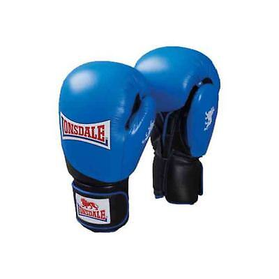 Lonsdale Leather Club Sparring Boxing Gloves Blue/Black Gym Training Gloves