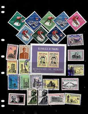 Panama: Nice  Stamp Collection  Displayed On 3 Sheets. See Scans