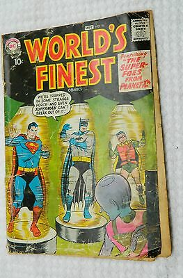 """World's Finest #96 ~ Superman & Batman:""""Super-Foes from Planet X"""" 1958 WH Low G."""