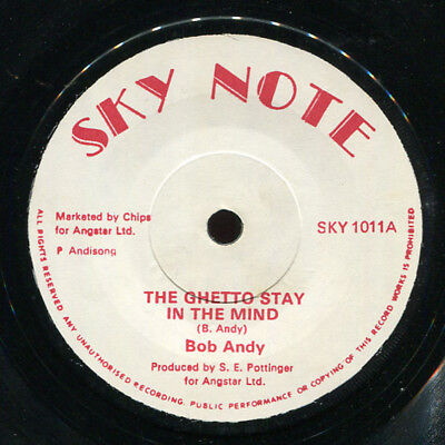 "Bob Andy - The Ghetto Stay In The Mind UK Sky Note 7"" Listen!"