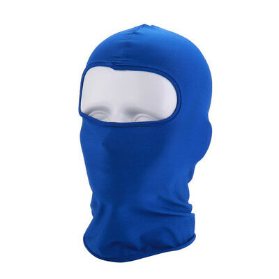 Blue Cycling Protecting Full Face Mask Ultra-thin Neck lycra Outdoor Cycling