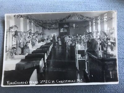 WW1 London Waterloo King George's Ward Hospital Christmas 1915 2nd S G H