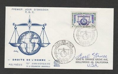 French Polynesia 1962 Human Rights Declaration FDC