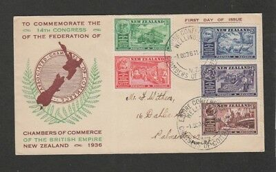 New Zealand 1936  Chambers of commerce issue FDC