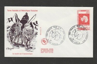 French Antarctic Territory 1971 Antarctic Map issue  FDC