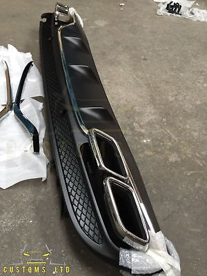 Mercedes Benz C63 AMG Style Diffuser Fits All W205 2014+ Exhaust Tips UK Seller