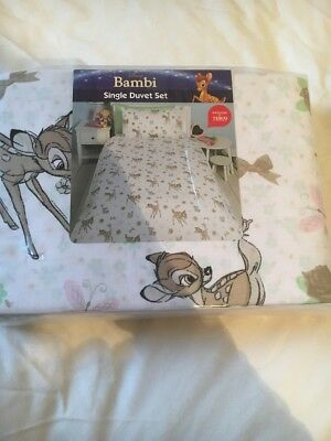 Girls Single Duvet Cover Set Disney Bambi