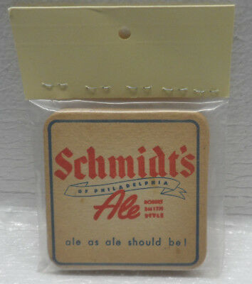 LOT of 5 Vintage Schmidt's of Philadelphia Beer Ale Should Be Cardboard Coasters