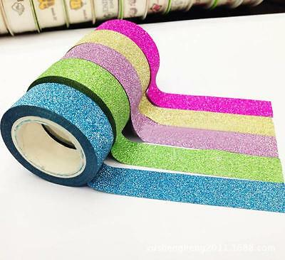 5PCS Washi Sticky Paper Masking Adhesive Decorative Tape Scrapbooking Gifts Hot