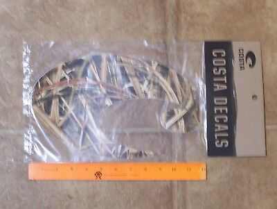 """New Genuine Costa Del Mar Decal Sticker MOSSY OAK Camo Extra large over 11"""""""