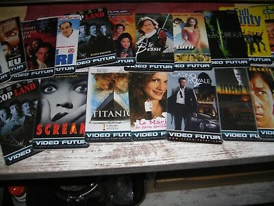 LOT DE 110 cartes video futur avec Titanic, Scream, Casino royal etc..