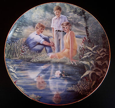 """Princess Diana with Princes William & Harry Plate-""""Reflections of Tomorrow"""""""