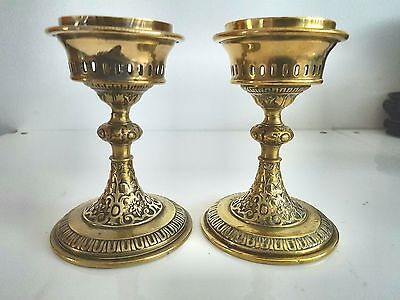 Ornate Ritual Brass Candle Stands