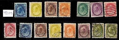 Canada - 1897/1898  issues to 20c MM/ used - cat £350 + (5c MM has serious tear)