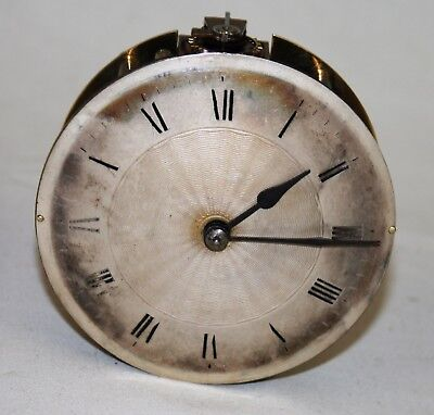 Antique French Clock Platform Escapement Movement + Dial & Hands Fully Working