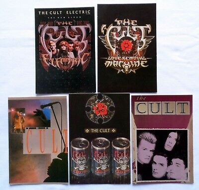 THE CULT POSTCARDS  5 x Vintage The Cult Postcards * Ian Astbury *