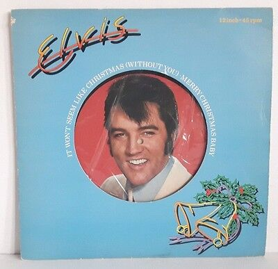 "Elvis It Won't seem Like Christmas With out You 1979 Vinyl 12"" Single RCA PC9464"