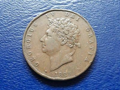 William Iiii Halfpenny 1825 Great Britain Uk