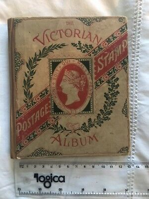 The Victorian Postage Stamp Album - lots of old stamps - mixed condition