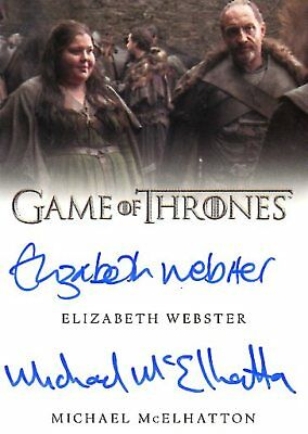 Game Of Thrones Valyrian Steel DUAL AUTOGRAPH card WEBSTER & MICHAEL MCELHATTON