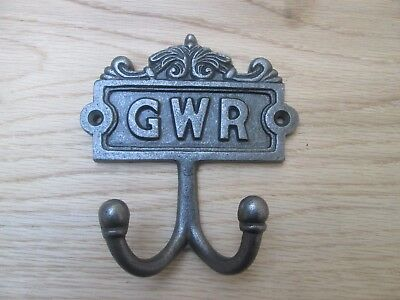 cast iron vintage old Victorian style double coat hook hanging hook peg hanger