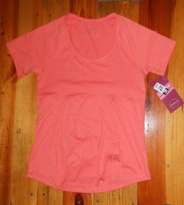 NWT Ingrid & Isabel Be MATERNITY SHORT Sleeve V-neck BE ACTIVE Workout Top XS