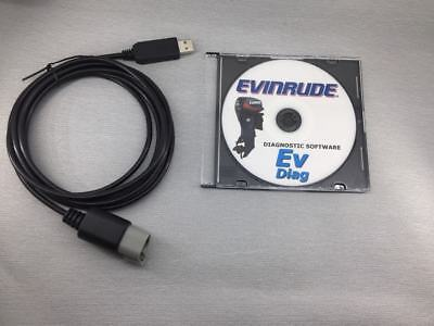 Evinrude diagnostic USB Cable for FICHT, Johnson and E-TEC FREE SHIPPING