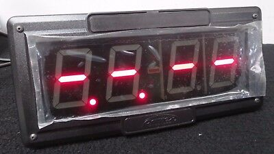 "Primex Wireless SNS Clock SNS7Y200-1 2.5"" 4-Digits Single Sided Red LED Display"