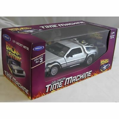Welly TY3651 Back to the Future BTTF 1 Delorean 1:24 Scale Diecast Model Car