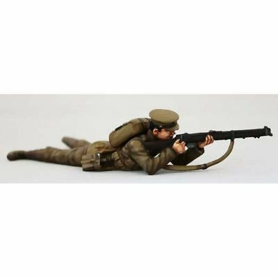 Empire Miniatures 1:32 W1-1411 WW1 BEF Tommy Lying Figure No 2 (Cocking)