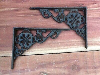 8 Flower Wall Shelf Brace Shelf Bracket Corbel Cast Iron Rustic FREE SHIPPING
