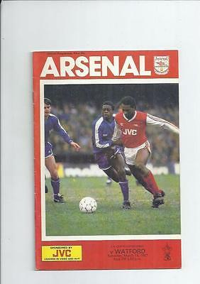 Arsenal v Watford FA Cup Football Programme 1986/87