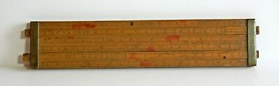 Dring & Fage Antique Customs And Excise Two Slide Rule