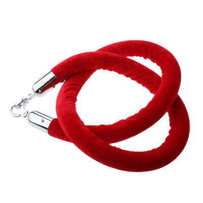 Red Queue Divider Crowd Control Stanchion Barrier Posts Rope 1.5m Long