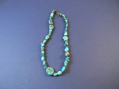 Vintage Turquoise South Western necklace with Sterling clasp