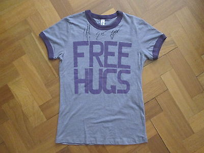 Signed By All Three -  Sick Puppies Free Hugs T-Shirt  - Women's Small - Bella