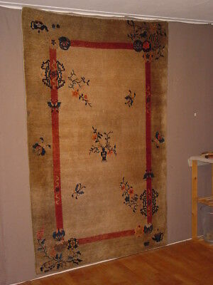 Fabulous Antique Full Pile Chinese Tea Ceremonial Rug ****hg***