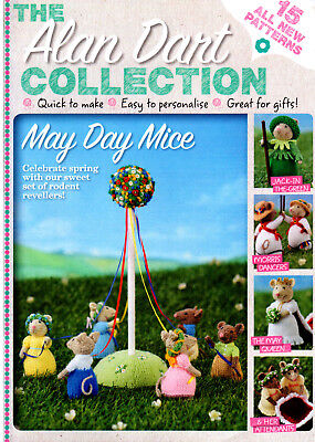 Alan Dart May Day Mice   Toy-Doll Knitting Pattern  Magazine  Booklet