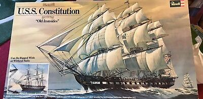 Vintage 1976 Revell Authentic Model Kit H398 - USS Constitution - 1:96 Complete