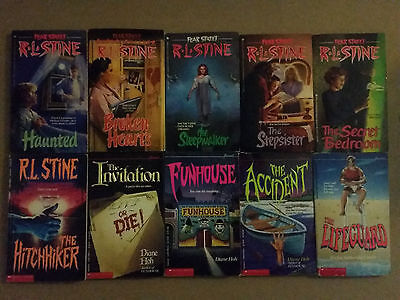 Lot of 10 Young Adult Horror Books by Diane Hoh, R.L. Stine, Richie Cusick