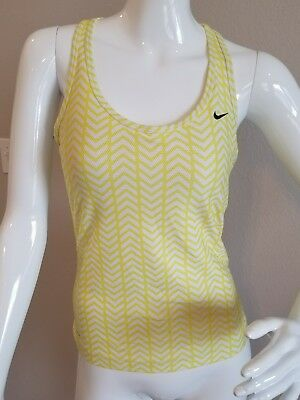 Nike Dri Fit Racerback Women Sz Small Tank Top Workout Running Cup Bra Chevron