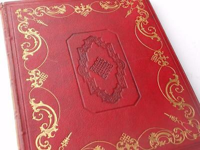 Lovely Antique Embossed Georgian Scrap Album Book Empty  Lovely Covers