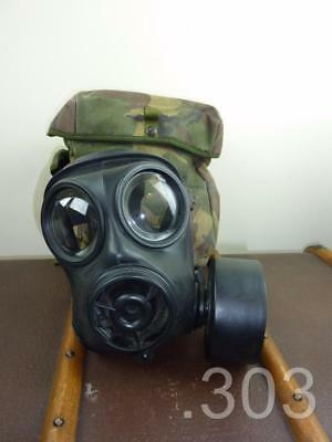 British Army Military S10 NBC Gas Mask / Respirator with Case, NBC, Size 1