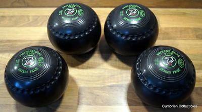 Excellent Set of 4 Professional Plus Bowls by Drakes Pride Size 4H in Black