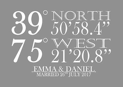 personalised map print engagement gift anniversary coordinates