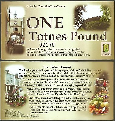 England / Totnes - Early version of the Totnes Pound, only 6000 were made.