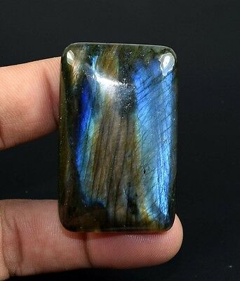Electric Blue !  137.60 Cts. 100 % Natural Labradorite  Cushion Cab  For Pendant