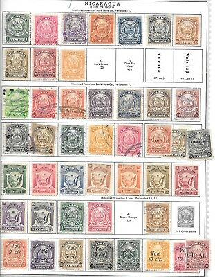 Nicaragua. 1905-1911.  Arms With And Without Overprints.
