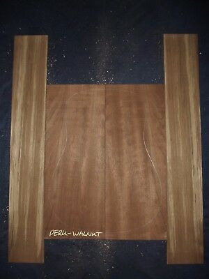 Guitar Luthier Tonewood QUARTERSAWN PERUVIAN WALNUT Acoustic backs sides SET