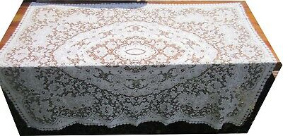 """Never Used Cotton Blend Woven Lace Table Cloth 50 x 60"""""""